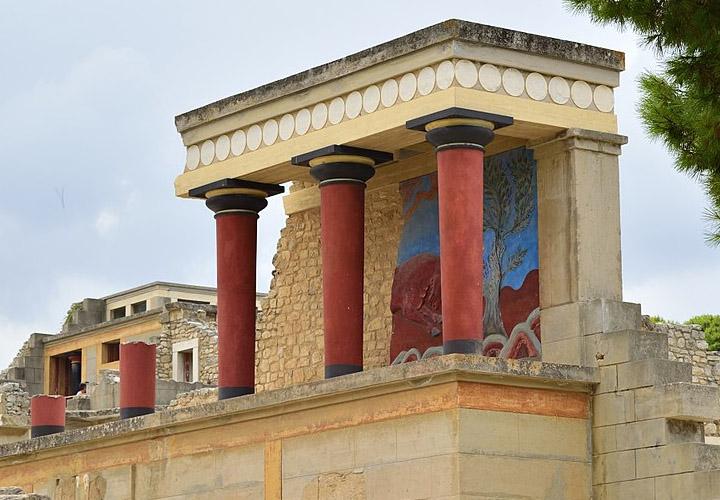 Knossos Heraklion Kreta Mino 239 Sch Paleis 4000 Jaar