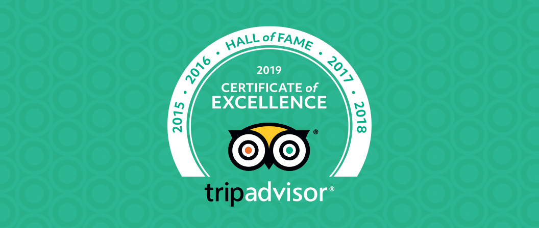 Certificate of Excellence Hall of Fame by TripAdvisor